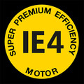 Logo du moteur IE4 Super Premium Efficiency